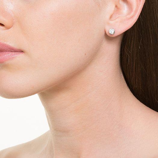 Boucles d'oreilles en laiton argenté 18 carats Lilas