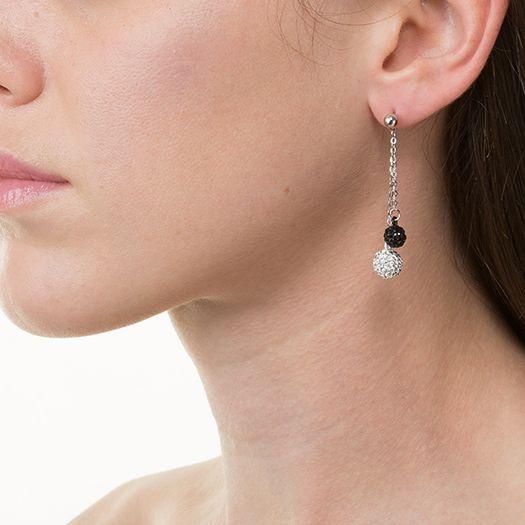 Boucles d'oreilles en laiton argenté 18 carats Constance