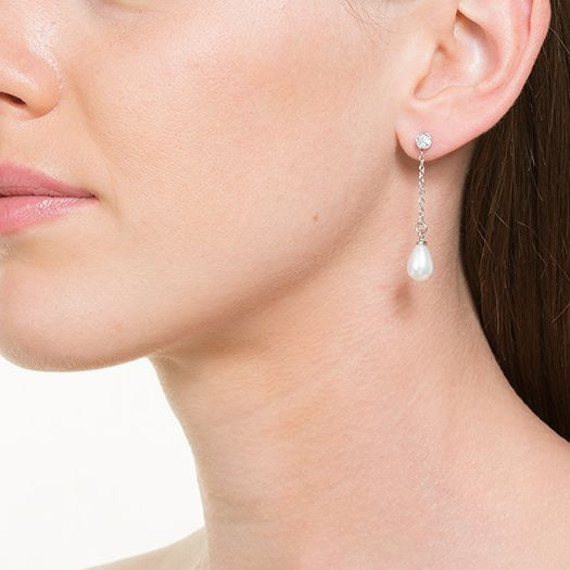 Boucles d'oreilles en laiton argenté 18 carats Emmanuelle