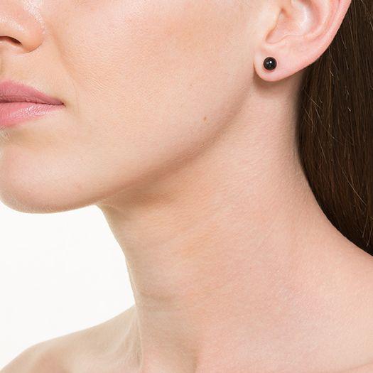Boucles d'oreilles en laiton argenté 18 carats Pearl