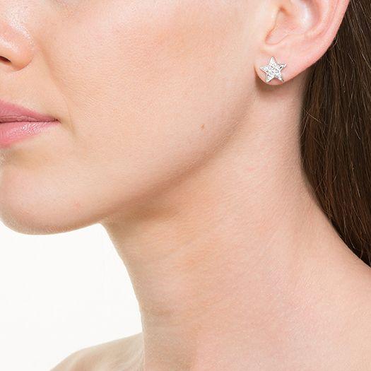 Boucles d'oreilles en laiton argenté 18 carats Pia