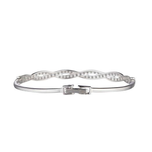 Bracelet Blanc Elyssa dorée à l'or fin et CRISTAUX DE SWAROVSKI ®
