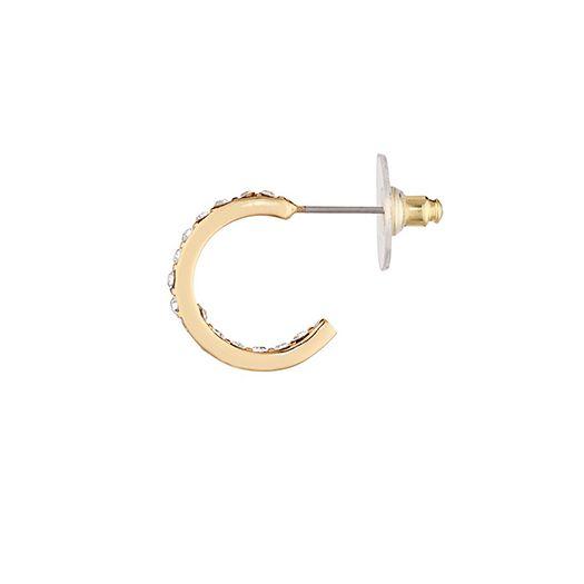 Boucles d'oreilles jaune Léa 2.5 CM dorée à l'or fin et CRISTAUX DE SWAROVSKI ®