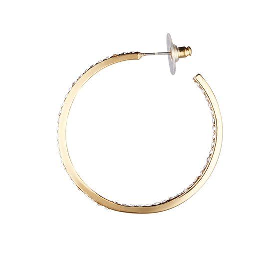 Boucles d'oreilles jaune Léa 5.5 CM dorée à l'or fin et CRISTAUX DE SWAROVSKI ®