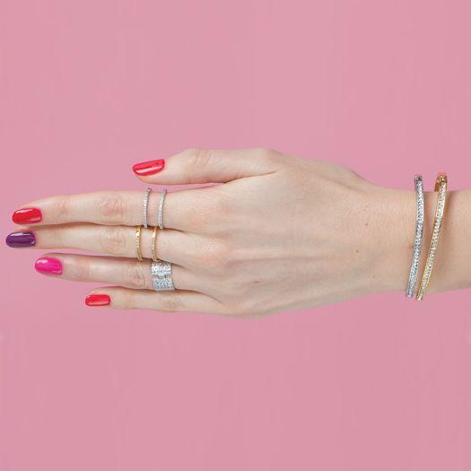 Bracelet Doré 18 carats Tal et CRISTAUX DE SWAROVSKI ®