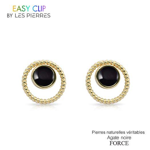 Boucles d'oreilles iconic + 2 PIERRES CLIPS OFFERTES