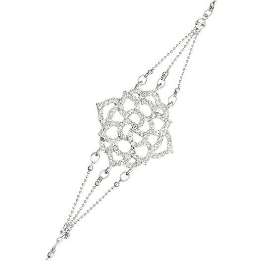Bracelet Star blanc dorée à l'or fin et CRISTAUX DE SWAROVSKI ®