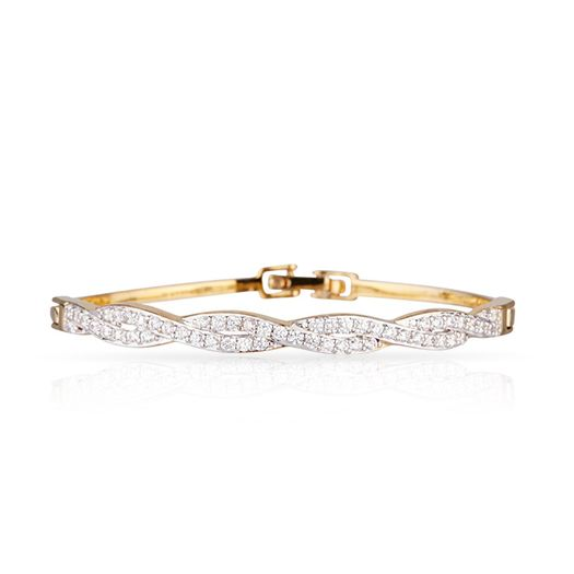 Bracelet Doré 18 carats Elyssa et CRISTAUX DE SWAROVSKI ®